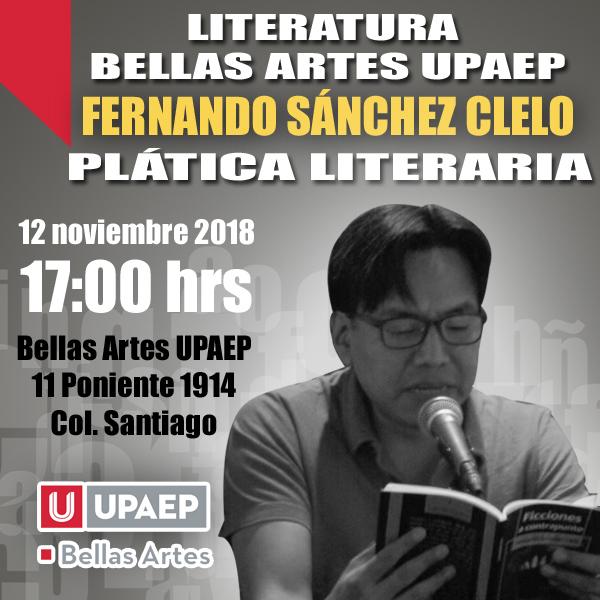 Asiste a la plática literaria con Fernando Sánchez Clelo
